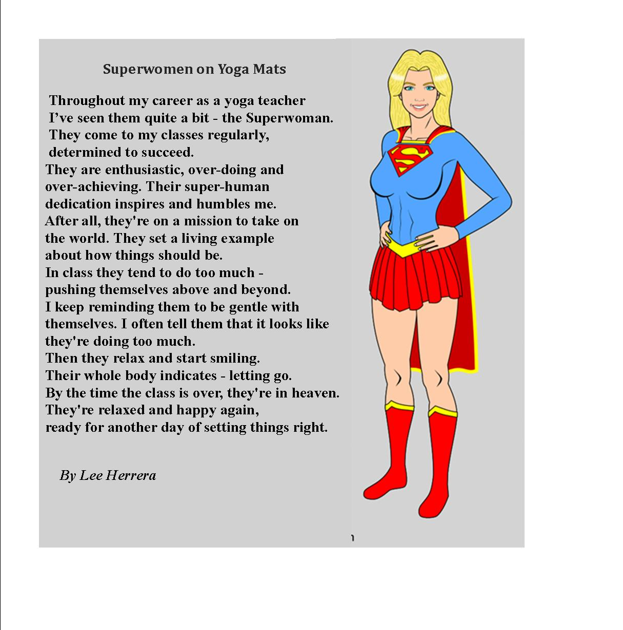 Superwomen on Yoga Mats